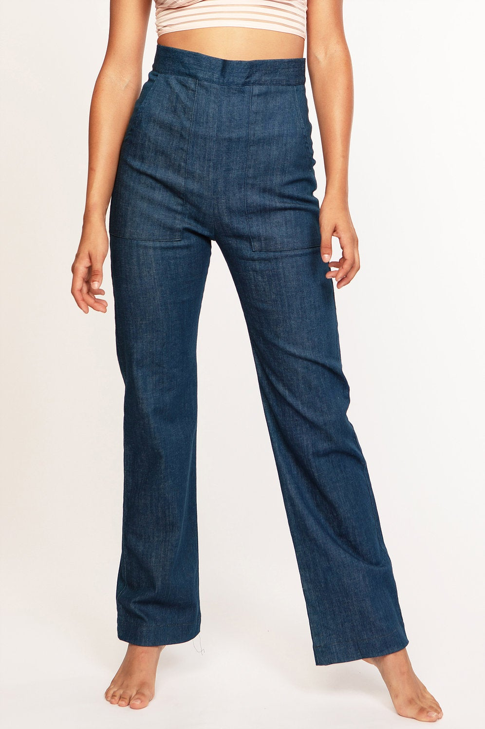 Image of Cameo High Waist Pant in Denim