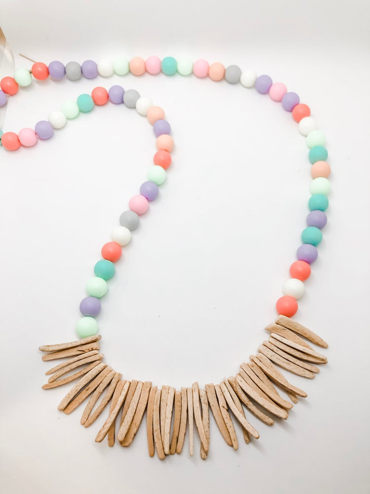 Image of Girls Wooden Spike Necklace