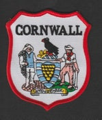 Image of Embroidered Cornwall badge - Free UK p&p