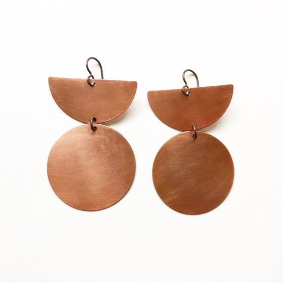 Image of Raw Copper Earrings
