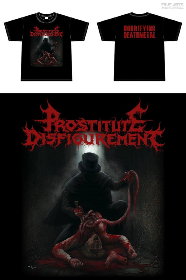 Image of PROSTITUTE DISFIGUREMENT Artwork T-Shirt