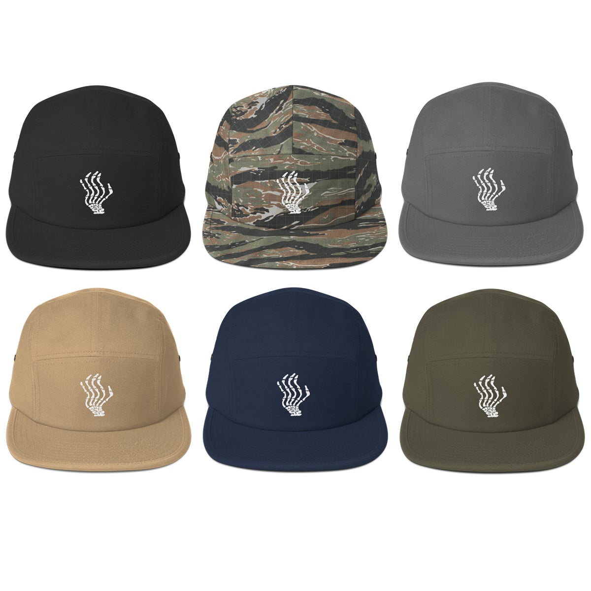 Image of Embroidered 5-Panel Hat