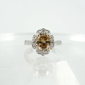 Image of PJ5688 - 18ct white & rose gold champagne diamond engagement ring