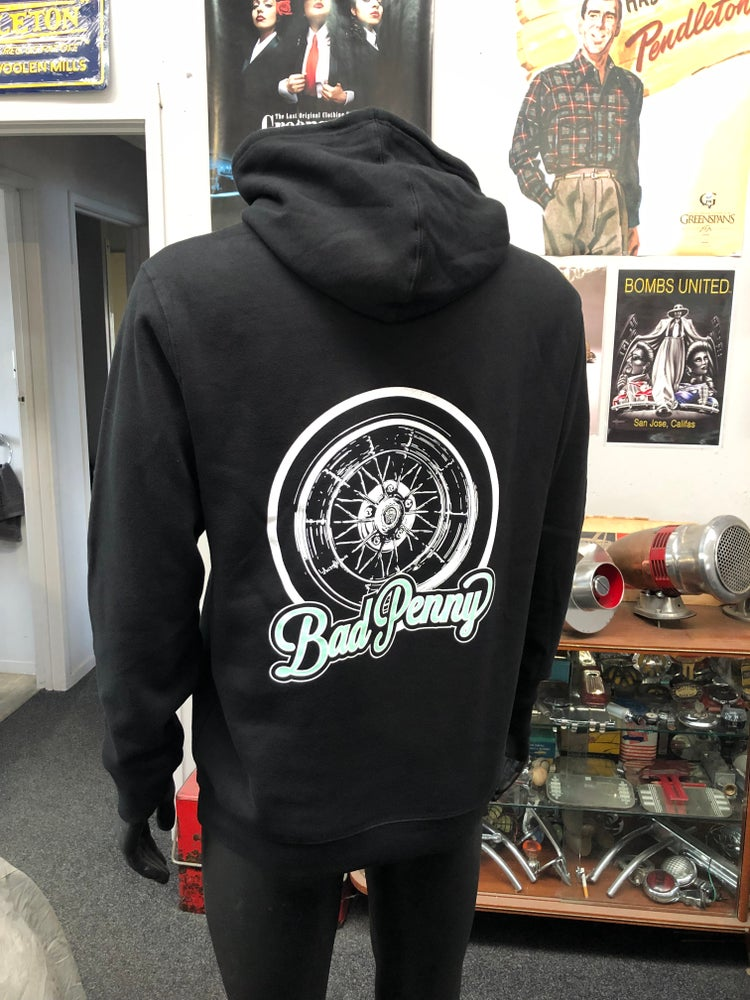 Image of Bad Penny Black Star Wire Hoodie