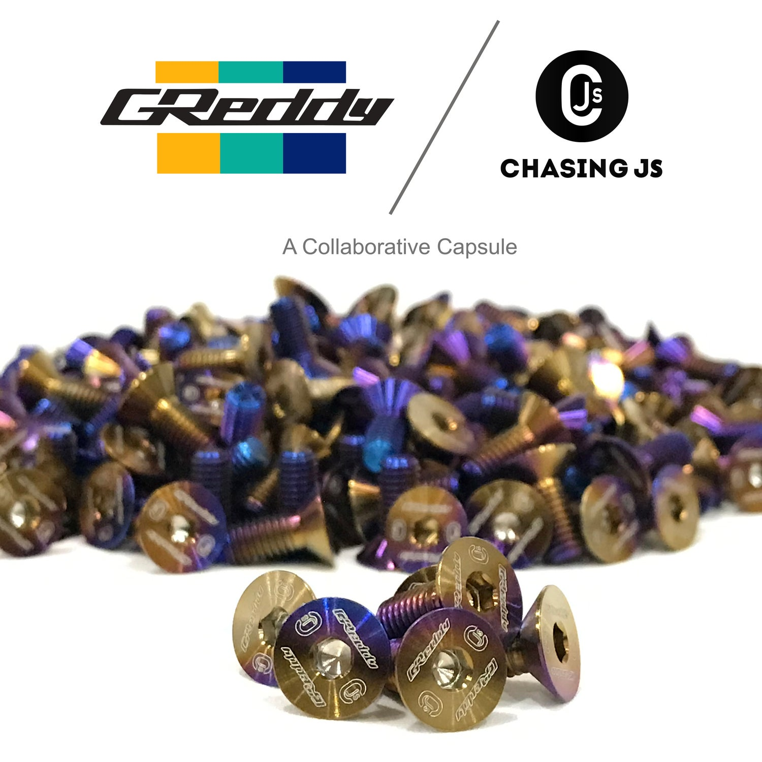 Image of GReddy X Chasing JS forge Titanium steering wheel bolts