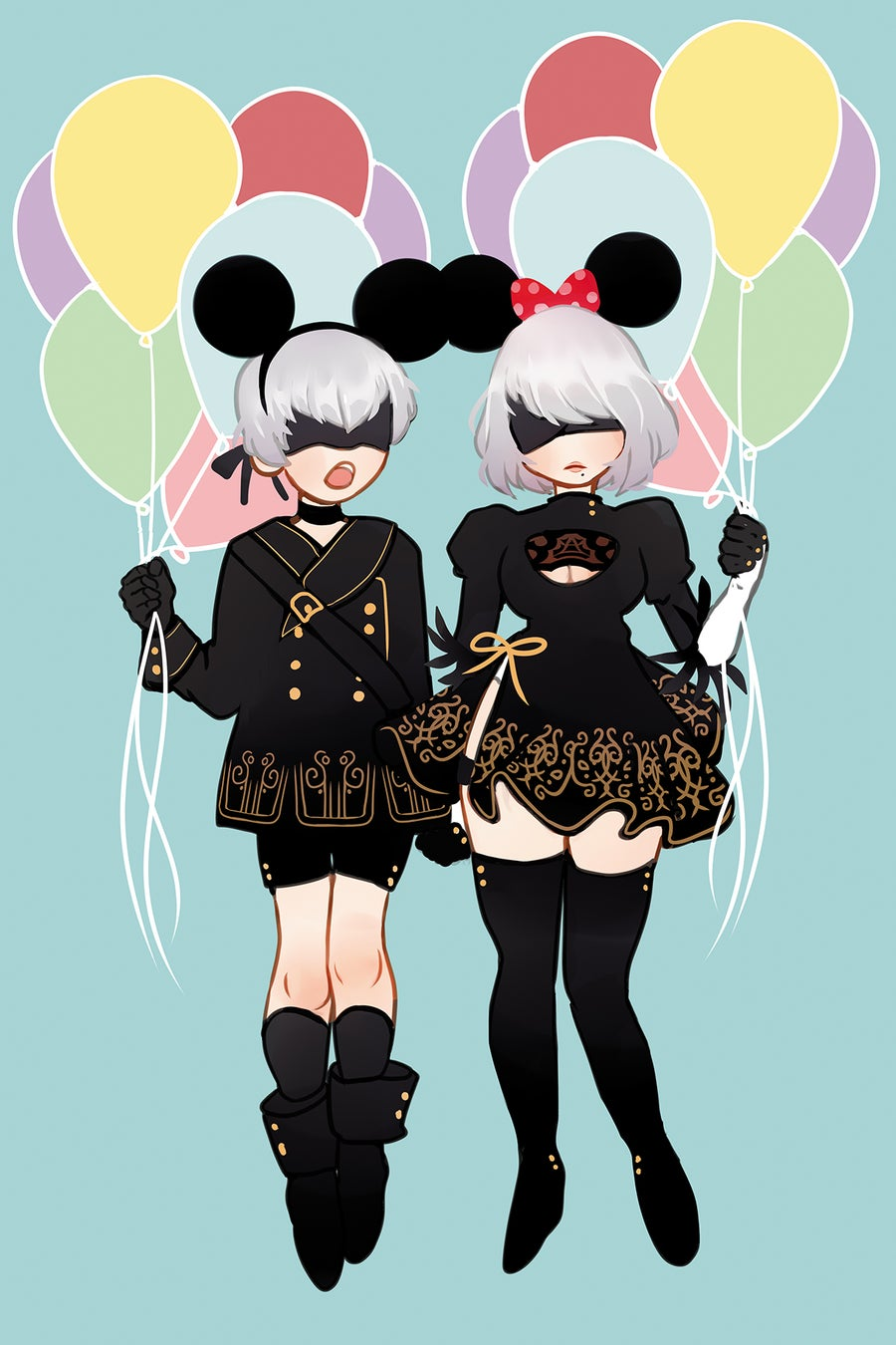 Image of 11x17 Nier Amusement Park Print