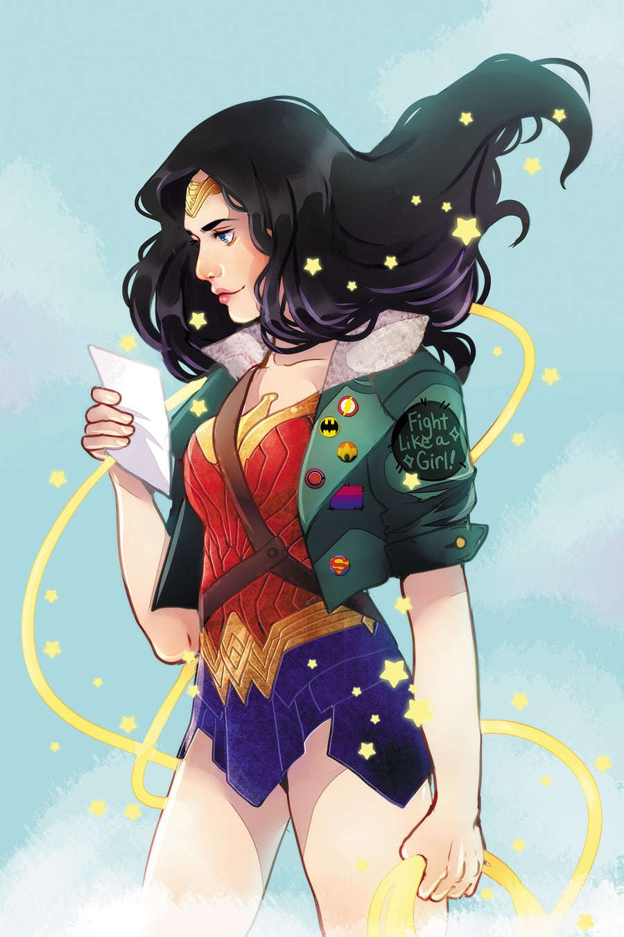 Image of 11x17 Wonder Woman Print