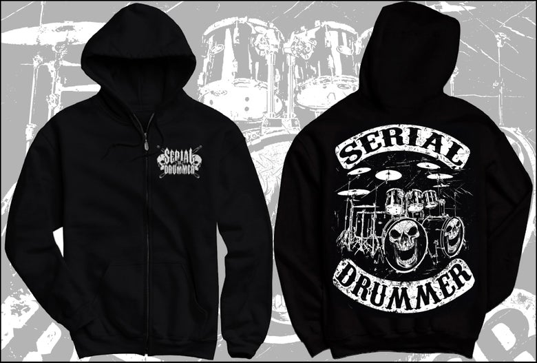 "Image of "" DRUMMERS OF ANARCHY "" ZIP HOODY RECTO VERSO"
