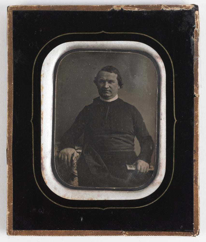 Image of Brand Frères: portrait of a Belgian priest, Brussels ca. 1860