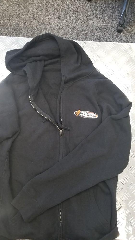Image of Zipper Hooded Sweatshirt