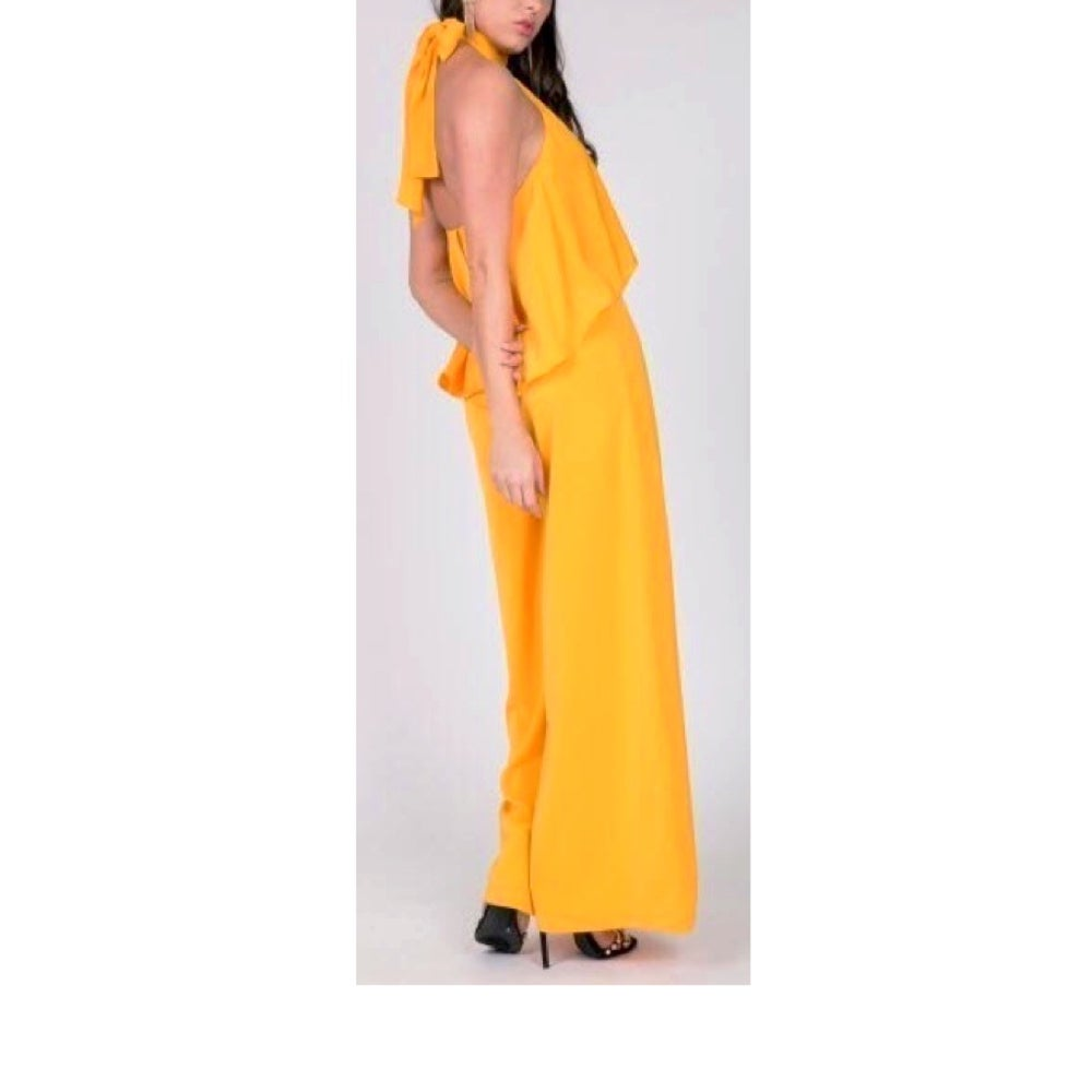 Image of Layered Golden Jumpsuit