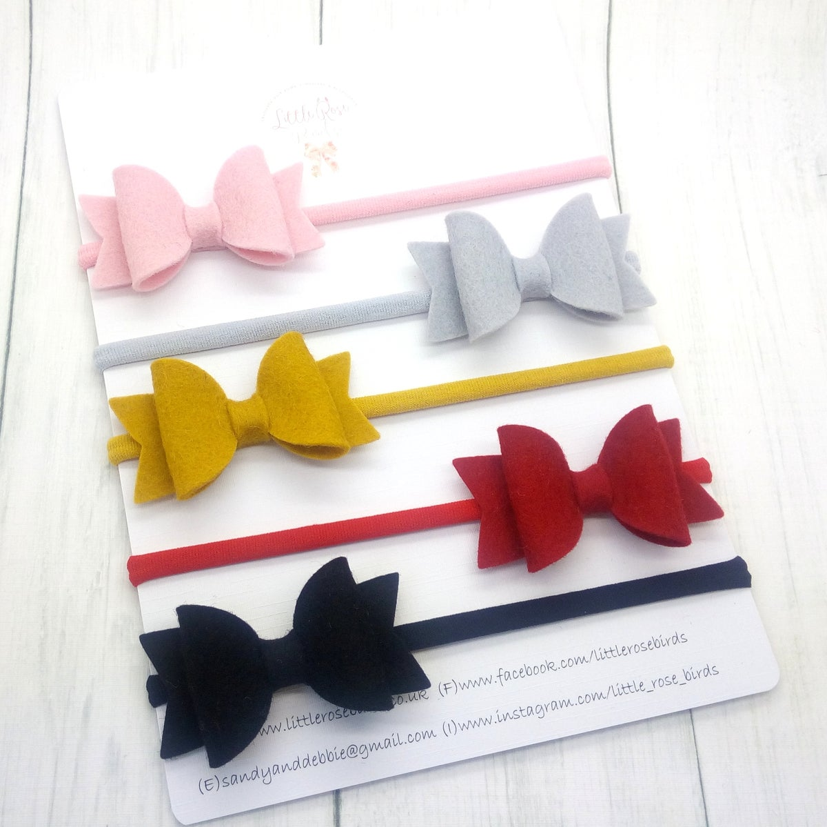 Image of SET OF 5 Classic Bows or Clips