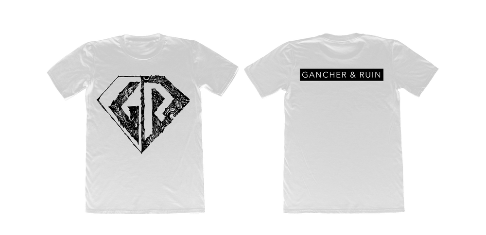 Image of Gancher & Ruin White Classic T-Shirt