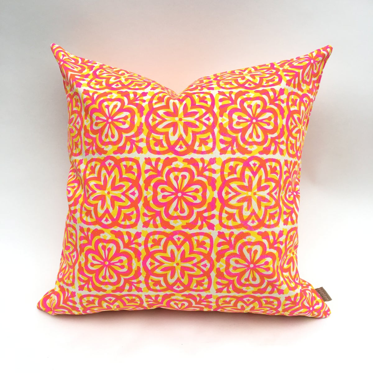 Image of Moroccan Tile Square Cushion - double print