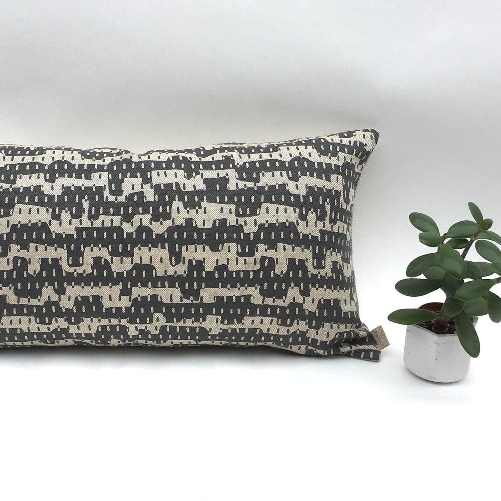 Image of Rain Slim Cushion - cotton/linen mix