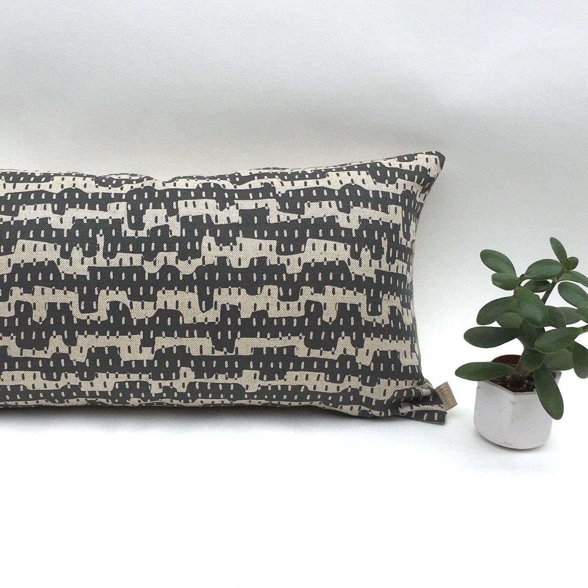 Image of Nomad Slim Cushion - cotton/linen mix