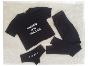 Image of Kindness is so Gangster poly crop tee