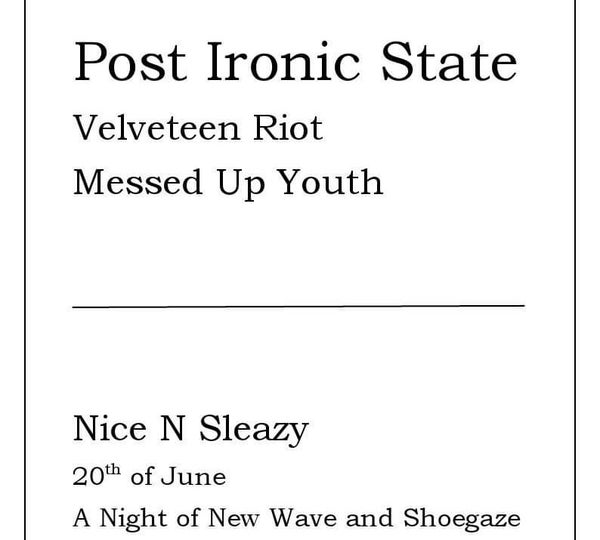 Image of Post Ironic State tickets