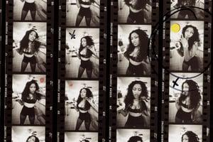 Image of Nicki Minaj proof sheet Queens, NY 2008