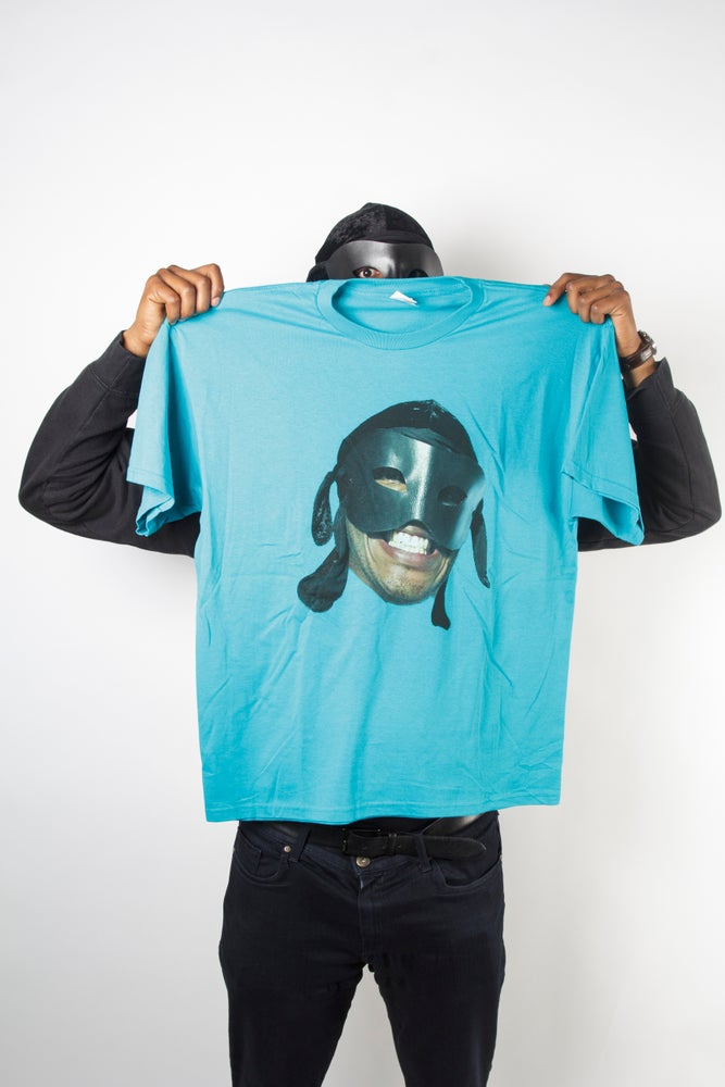 Image of Teal Big face T Shirt