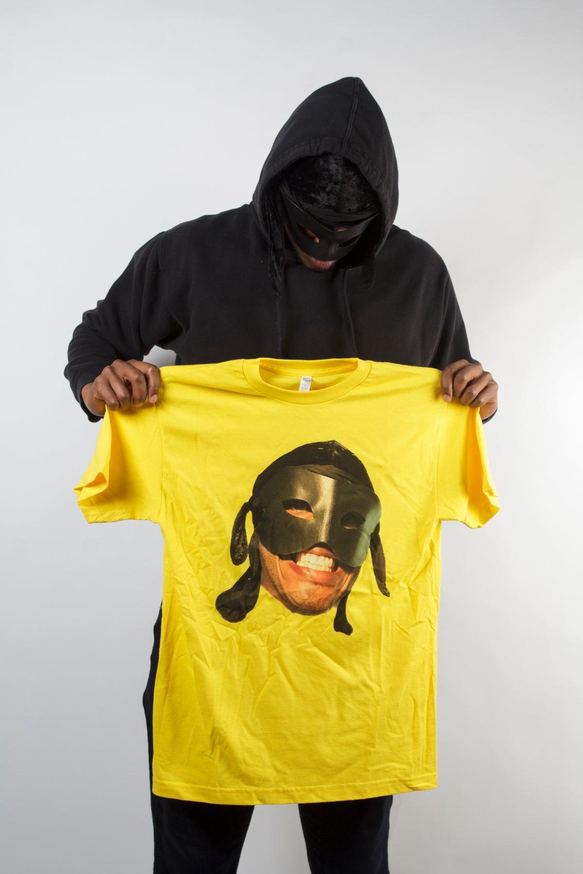 Image of Yellow Big face T Shirt