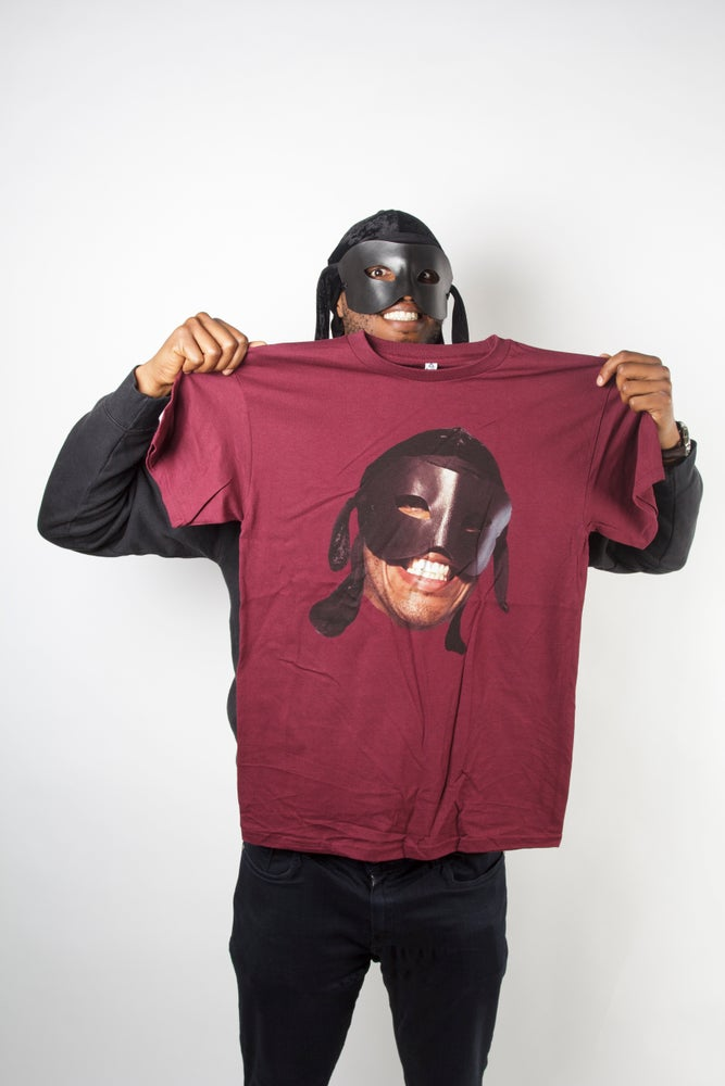 Image of Maroon Big Face T Shirt
