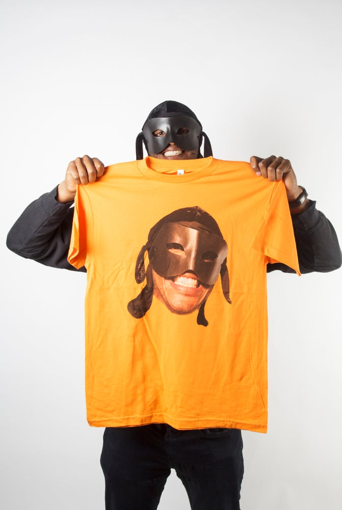 Image of Orange Big Face T Shirt