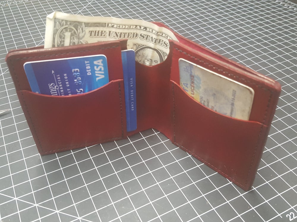 Image of Ox blood folding wallet #41