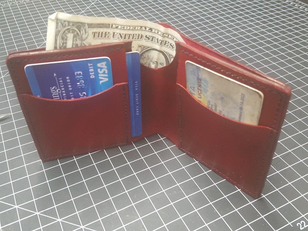 Image of Ox blood folding wallet #41