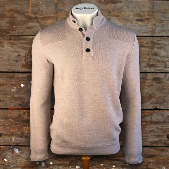 Image of ROYAL MER BUTTON DOWN ROLL NECK SWEATER