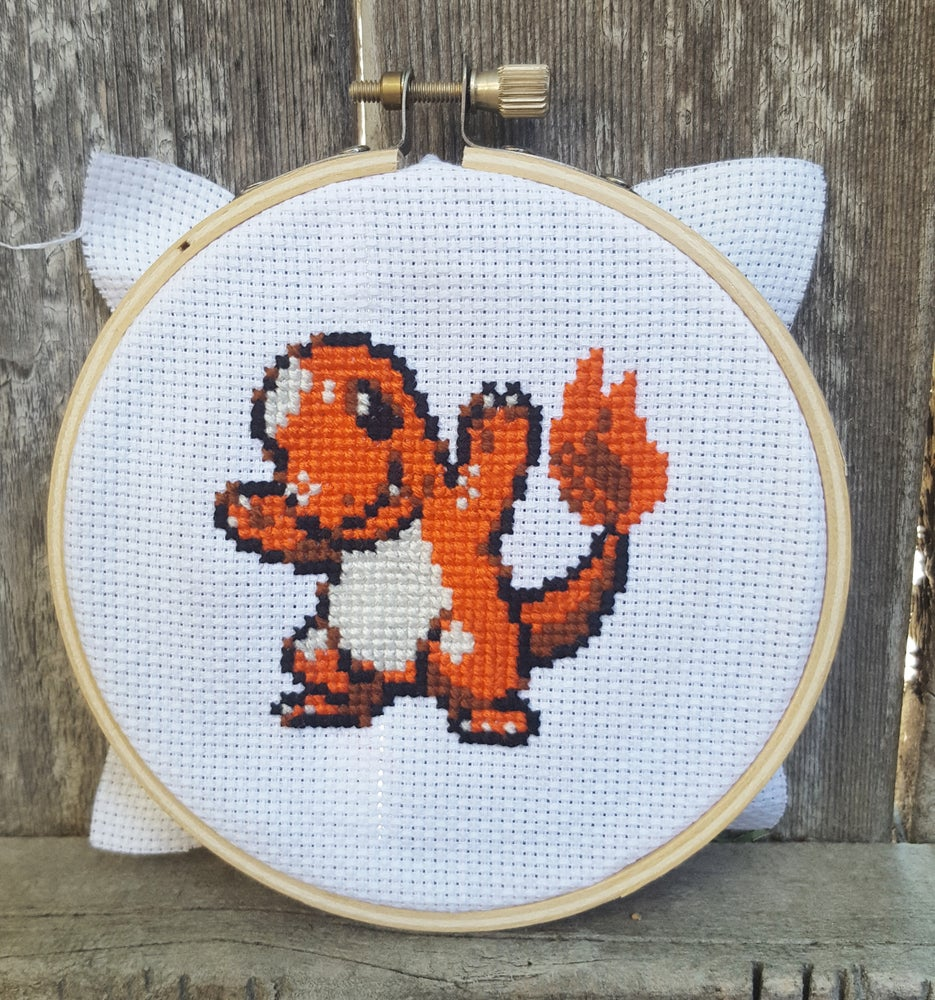 Image of CHARMANDER Pokemon Evolutions PATTERN PDF