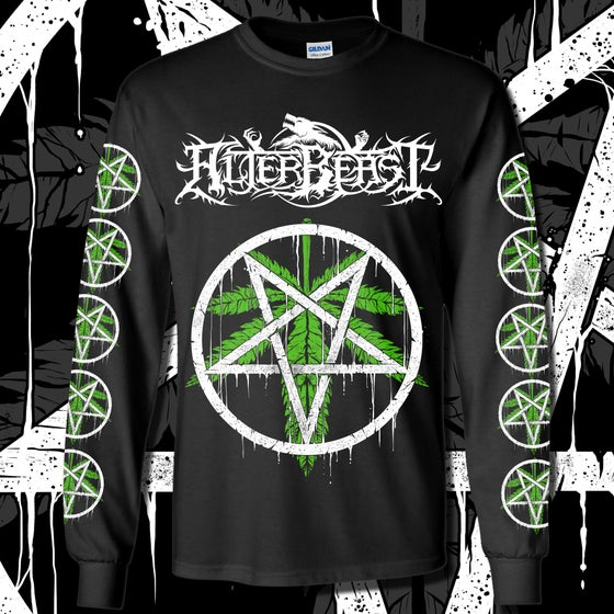 Image of Weed Leaf Pentagram Long Sleeve Shirt (3 Locations)