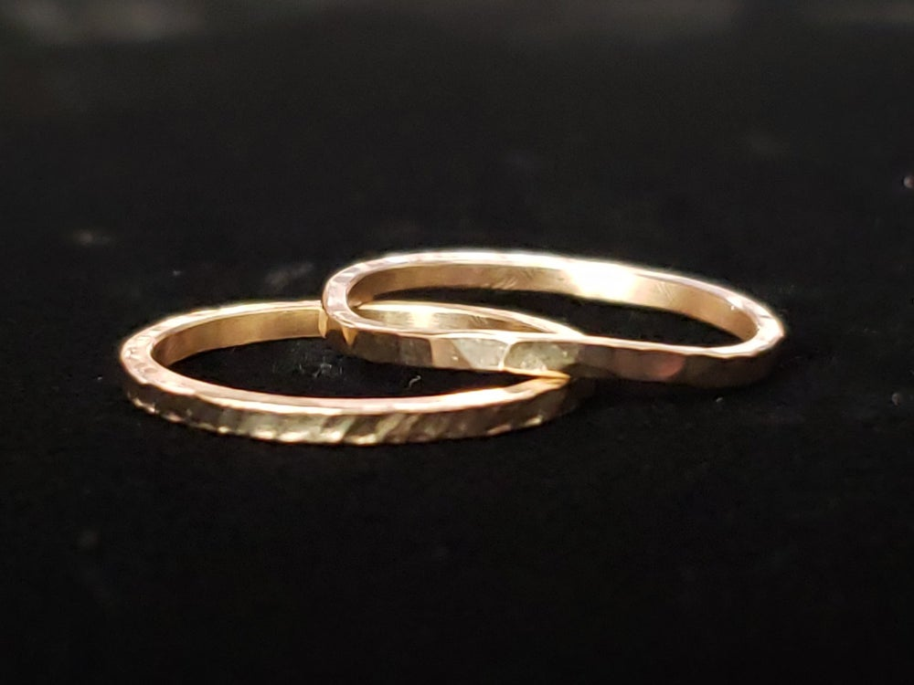 Image of Hammered Gold Ring