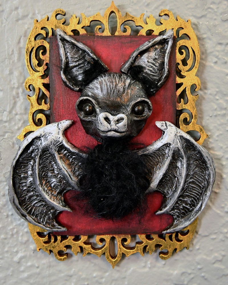 """Image of """"Black Bat 1 Faux Taxidermy"""" by The Coven of Cuteness"""
