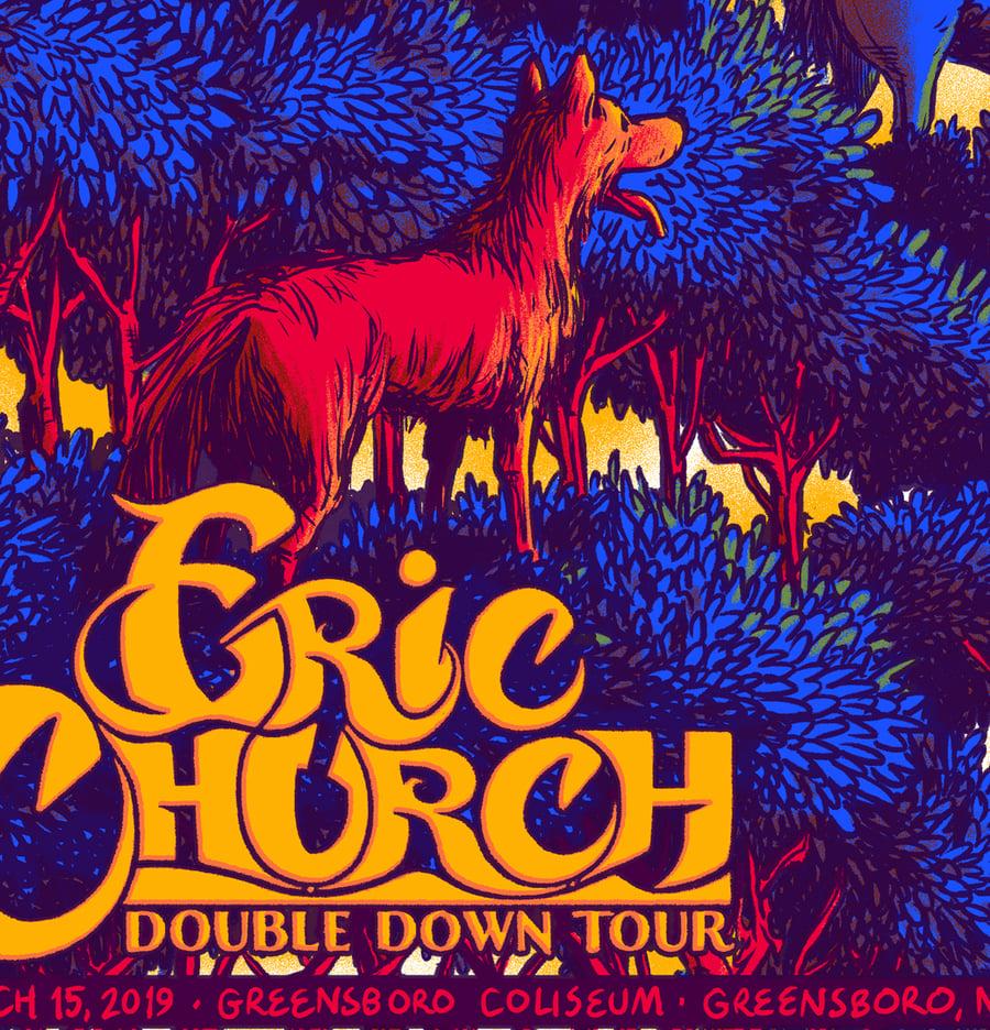 Image of Eric Church - Greensboro, NC 2019 - Uncut Sheet
