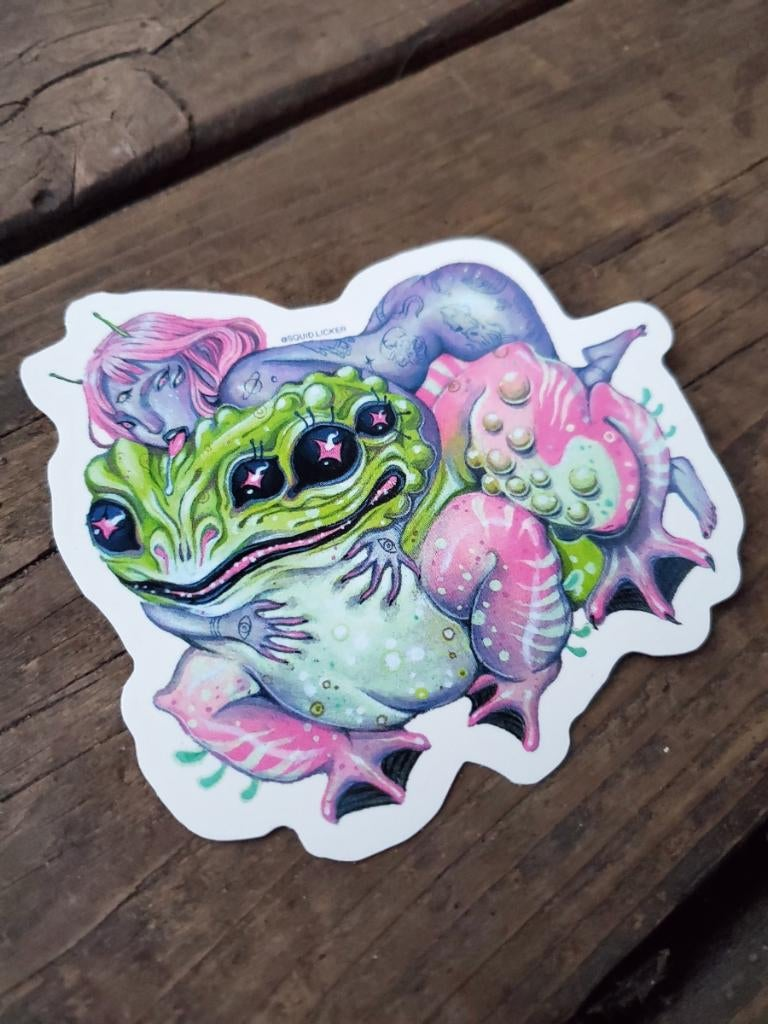 Image of Toad Nymph Sticker - set of 3