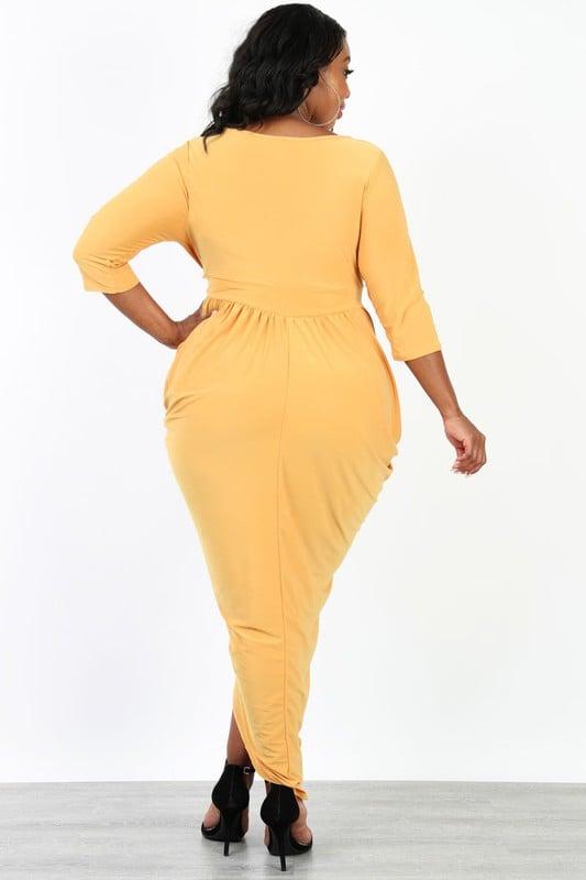 Mustard Maxi Dress Plus