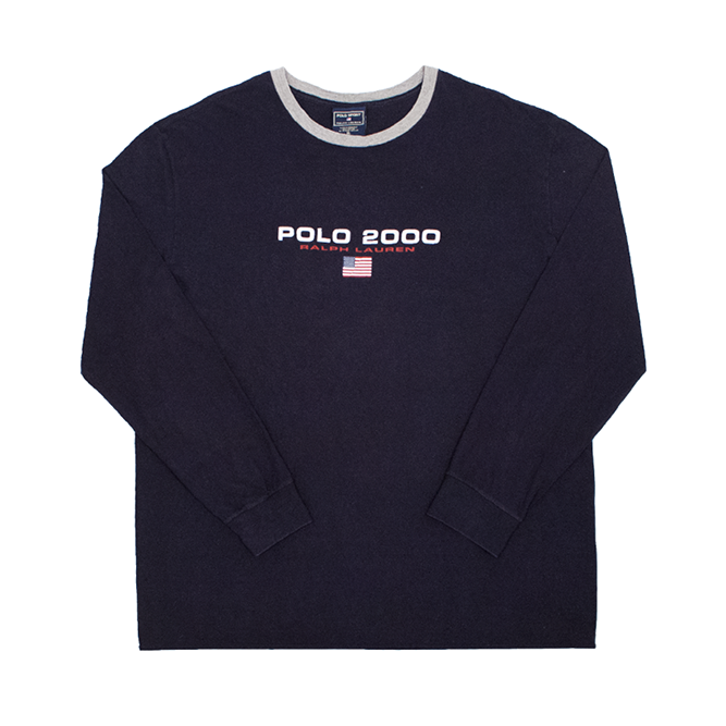 "Image of Polo Sport Ralph Lauren Vintage ""Polo 2000"" Long Sleeve Tee"