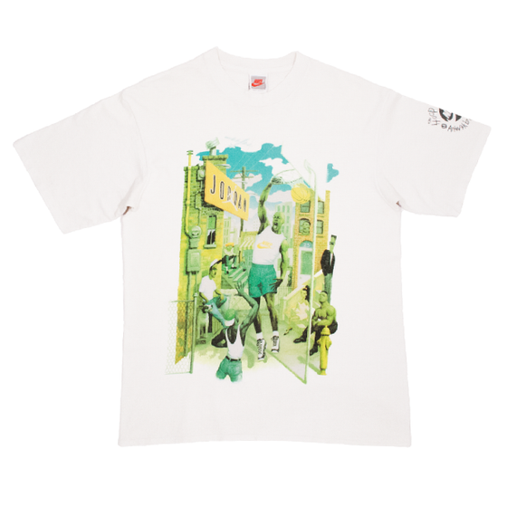 Image of Nike Vintage Grey Tag Jordan T-Shirt Artwork by Mark Ryden
