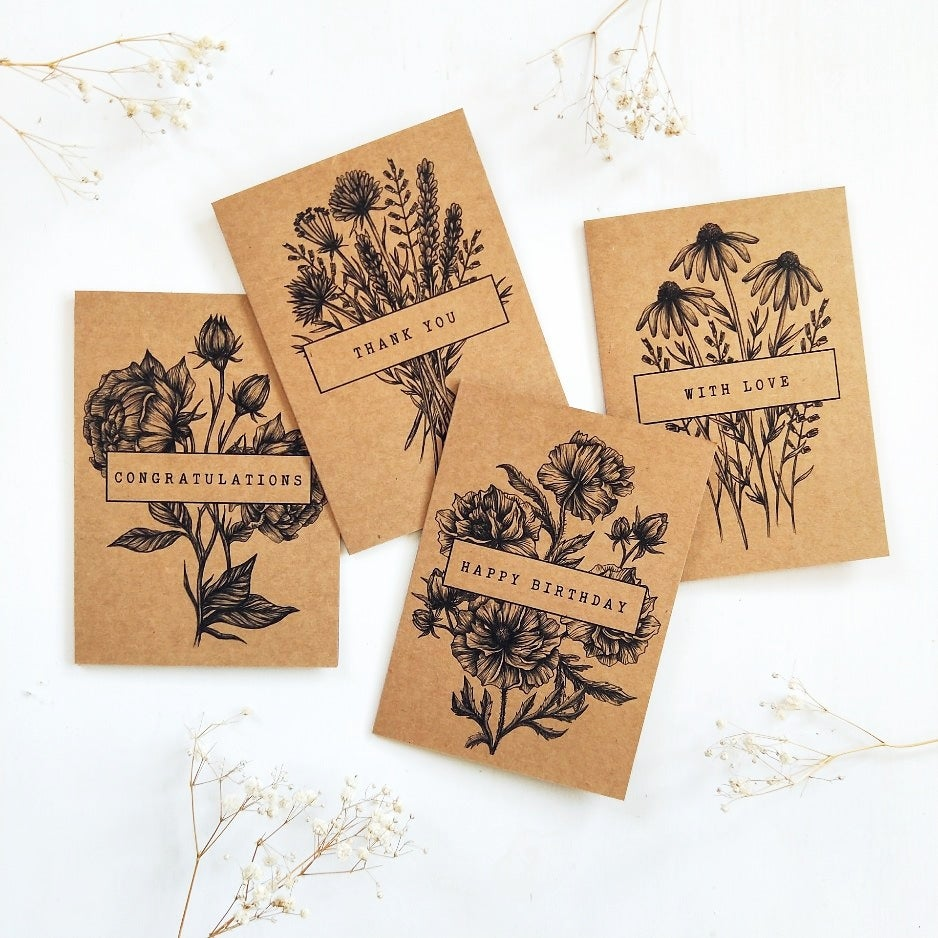 Image of CARD SET - Wildflower collection
