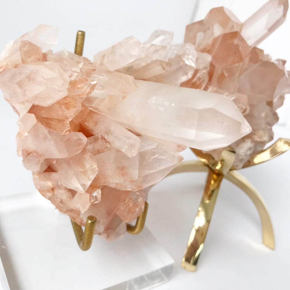 Image of Pink Quartz no.06 Sea Siren Collection Lucite Pairing