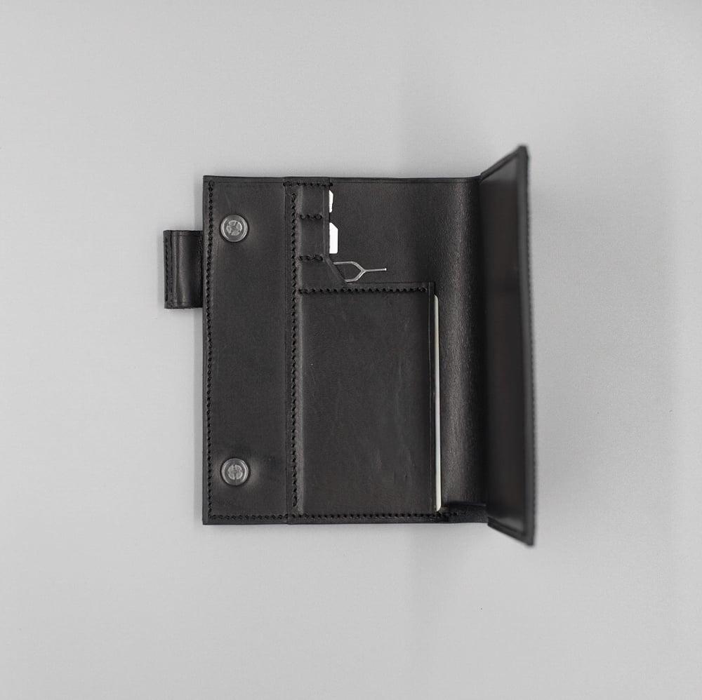 Image of SEWNSEWN - Helsinki' Travel Wallet (Black)