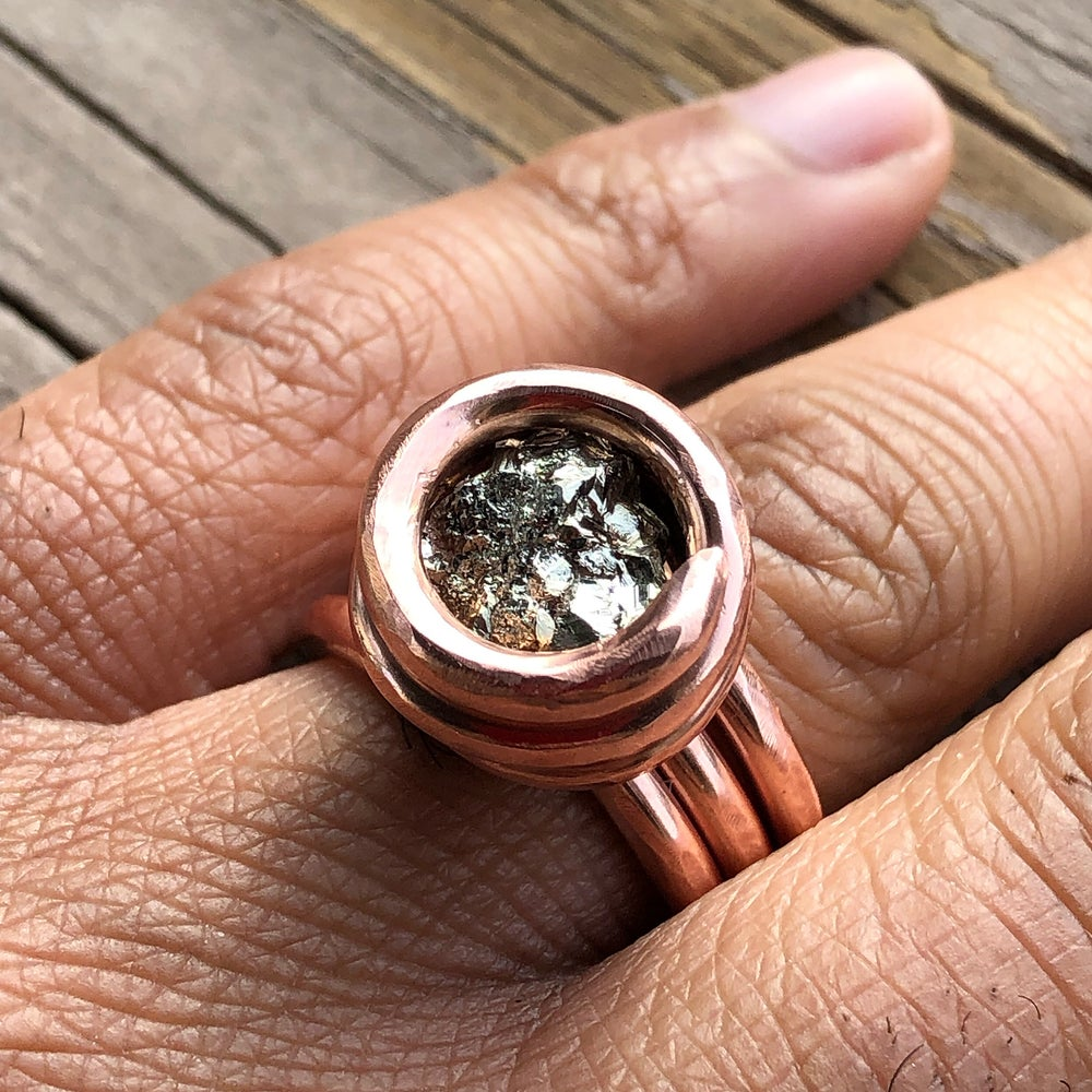 Image of Peruvian Pyrite Nugget Ring