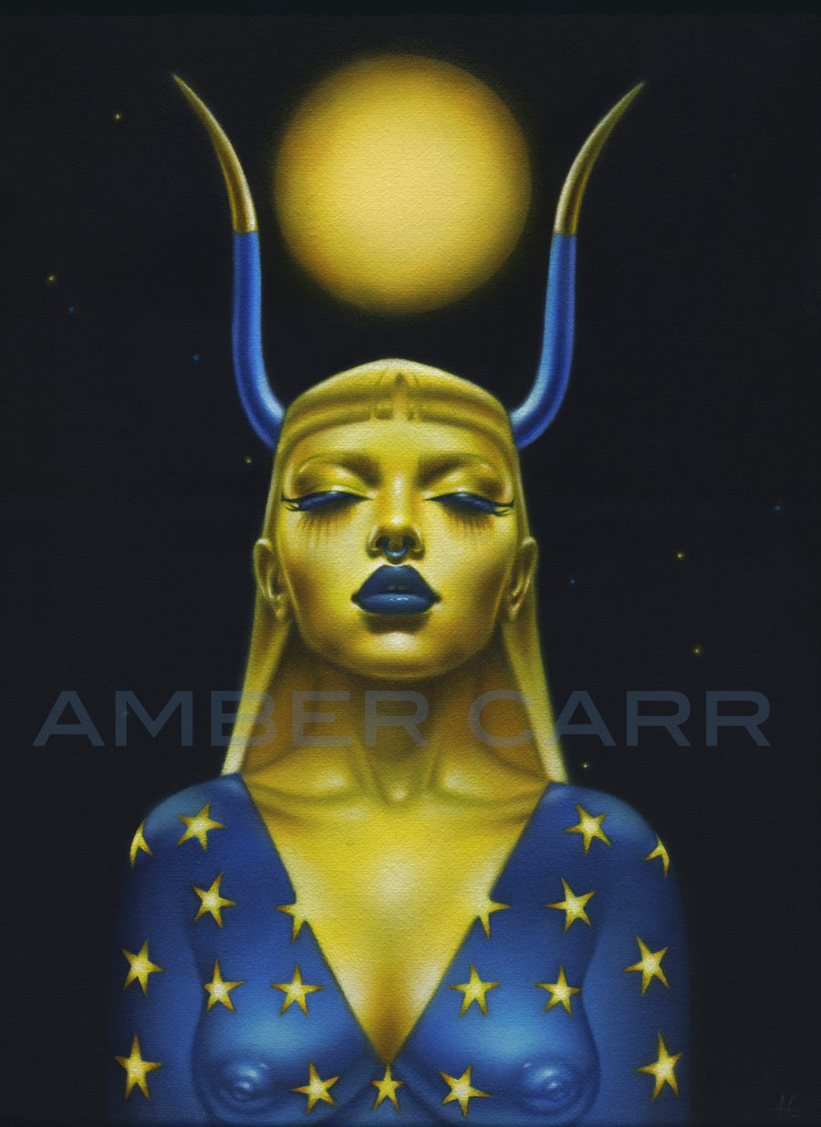 "Image of ""Taurus"" Original Oil Painting by Amber Carr"