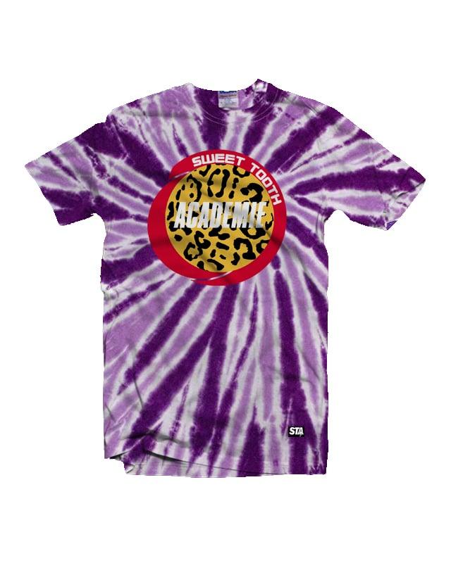 Image of STA PopRockets Tee Purple Tye Dye