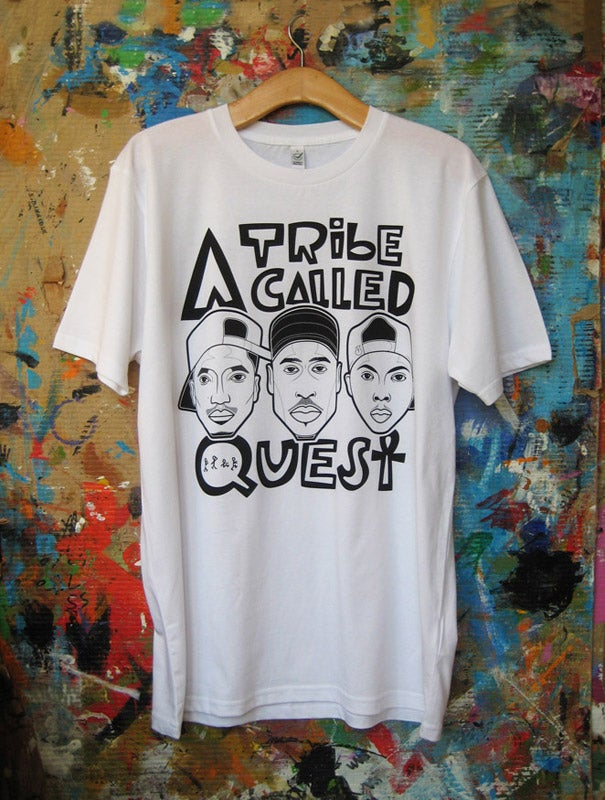 Image of ATCQ Tee White / Grey