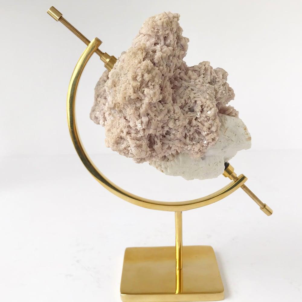 Image of Lepidolite no.11 Sea Siren Collection Brass Pairing