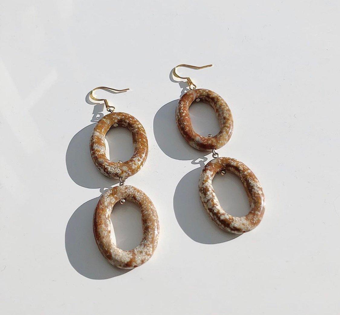 Image of Patra Statue Earrings