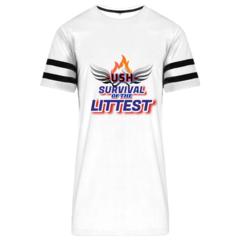 Image of USH TEAM LITTEST TOP - White & Black