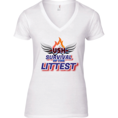 Image of WOMENS USH TEAM - SURVIVAL OF THE LITTEST T-SHIRT